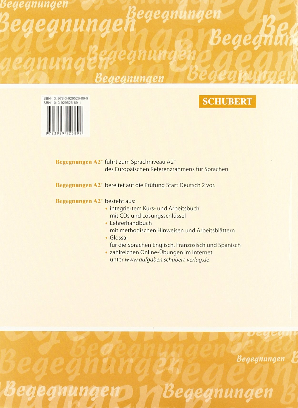 Begegnungen: Kurs- Und Arbeitsbuch A2+ MIT 2 Cds (German Edition ...