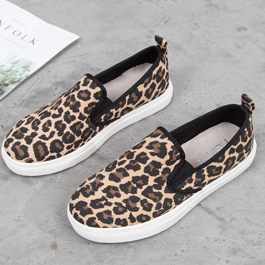 ✔ Hypothesis_X ☎ Women's Preforated Slip On Sneakers Roman Plus-Size Flat Casual Pumps Shoes Brown by ✔ Hypothesis_X ☎ Shoes (Image #6)