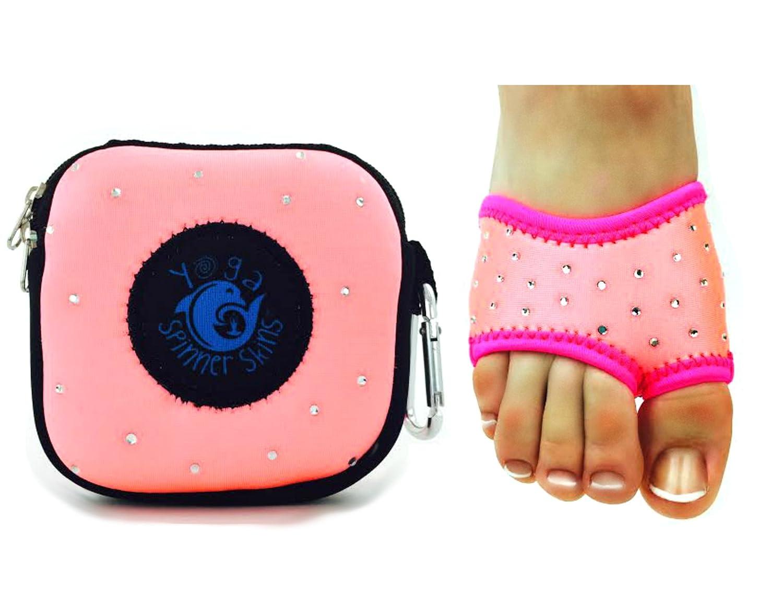 Spinner Skins for Yoga Neoprene Non Slip Yoga Socks Non Slip Half Soles with Pouch