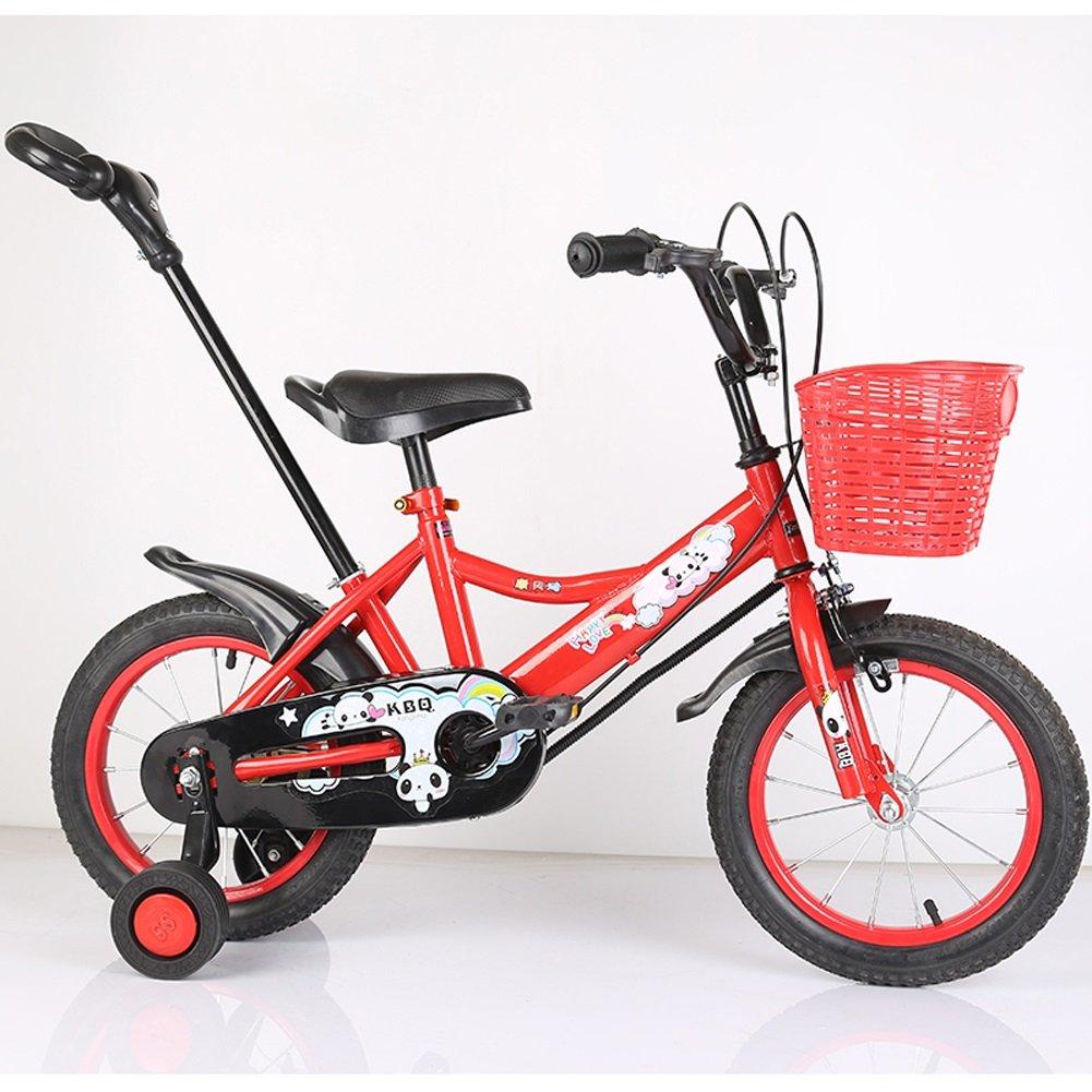 yxgh-子供の自転車12 /14 /16インチバイク2 – 3 - 5 – 7 Years Old Boys and Girls Children PreschoolベビーCarriage withプッシュロッド B07DCJ859M  レッド 12\