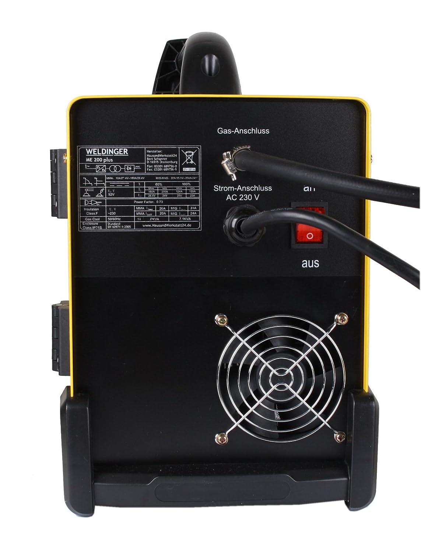 WELDINGER MIG /MAG-Elektroden-Schweißinverter ME 200 plus ...