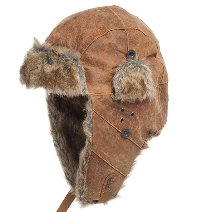 086f156e948 AUSTRALIAN USHANKA Trapper Genuine Leather PILOT Trooper AVIATOR Hat Men  and Women BROWN 7 1