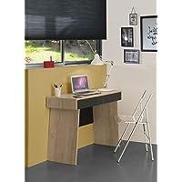 Diagone Industriel Archi Desk, Brown/Black, 46 H x 106 W x 11 D cm
