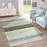 Amazon De Designer Moderner Teppich Marine Stripes Streifen Blau
