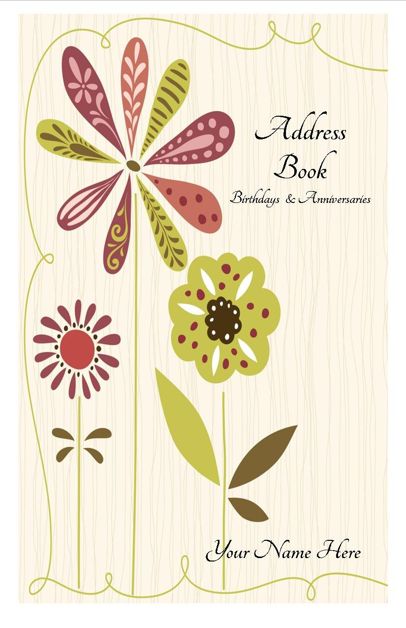 Large Print Address Book with A-Z Tabs Birthday Anniversary Calendar Family Record Keeper Personalized Gifts by JDSeals (Image #2)