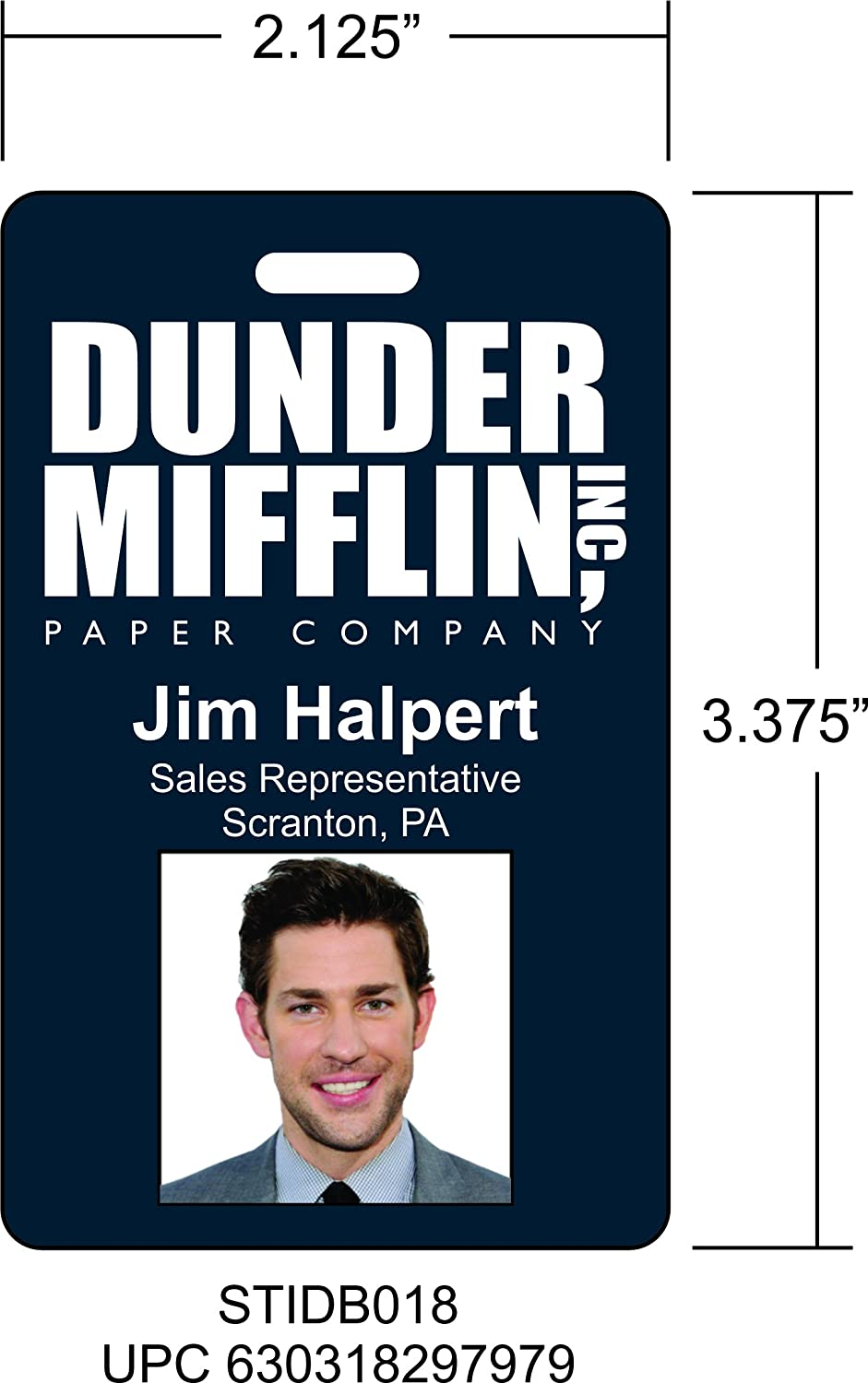 photo regarding Dwight Schrute Id Badge Printable named : Jim Halpert The Business office Novelty Identification Badge Motion picture