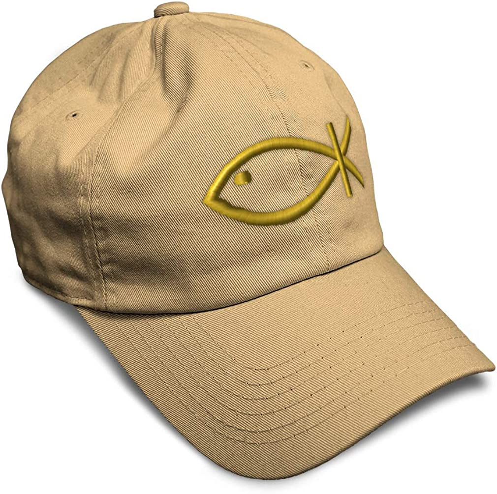 Custom Soft Baseball Cap Symbol of Christ Embroidery Dad Hats for Men /& Women