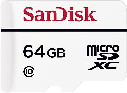 TALLA 64 GB. SanDisk High Endurance - Tarjeta microSD de 64 GB (Clase 10, hasta 20 MB/s de Lectura) - con Adaptador