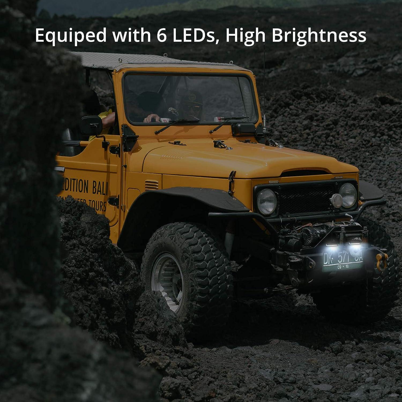 PROZOR License Plate Light 2PCS 6LED License Number Plate Light Waterproof Rear Lights for 10-30V Truck Trailer Lorry