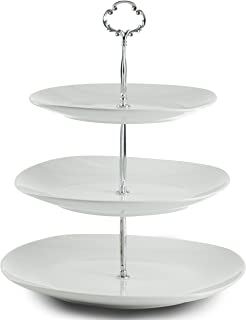 Klikel 3 Tier Square Serving Tray Platters Appetizer or Dessert Cupcakes And Cake Stand -  sc 1 st  Amazon.com & Amazon.com | 3 Tier Cake Stand and Fruit Plate Cupcake Clear Acrylic ...