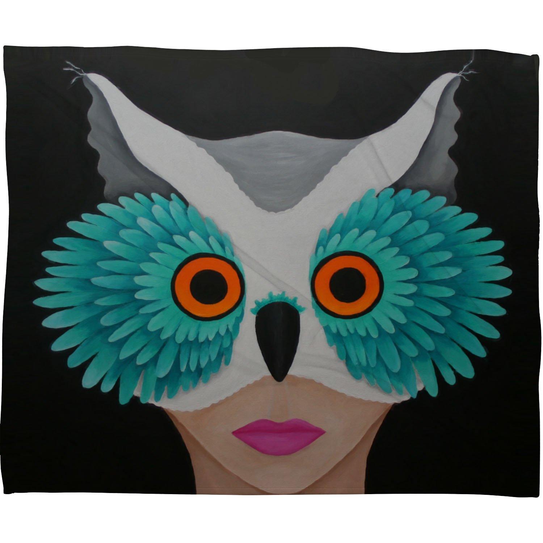 50 x 60 Deny Designs Mandy Hazell Owl Lady Fleece Throw Blanket