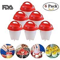Xinfang Silicone Egg Cooker-Egg Cups VU À LA TÉLÉ, Dur & Doux Maker, Faire bouillir les œufs sans la coquille d'oeuf (Pack de 6)