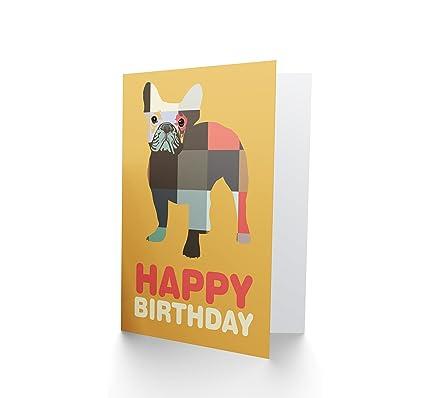 Amazon Wee Blue Coo Happy Birthday Dog Card Blank Greeting Card