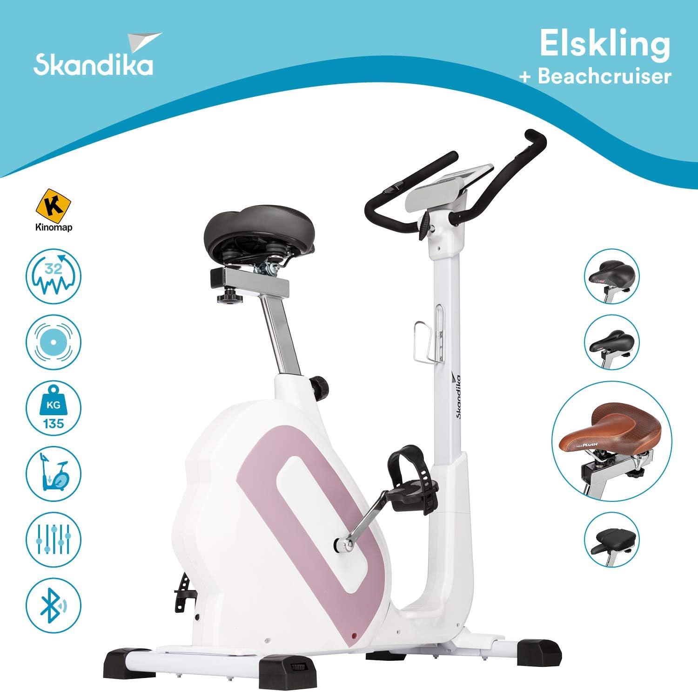 Applicaciones skandika Elskling Masa de inercia 11 kg 24 Prog - 32 Niveles de Resistencia Freno magn/ético Bicicleta est/ática//erg/ómetro Diferentes sillines Bluetooth