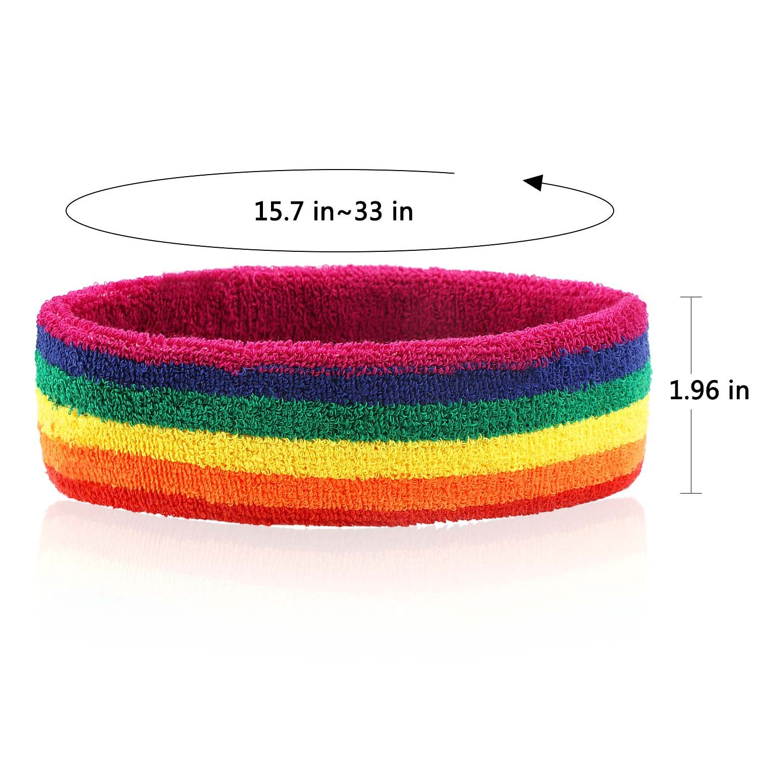 Taihao Story 6Pcs Gay Pride LGBT Pride Sweatband Sport Color Run Athletic Cotton Terry Cloth Hair Band by Taihao Story (Image #4)