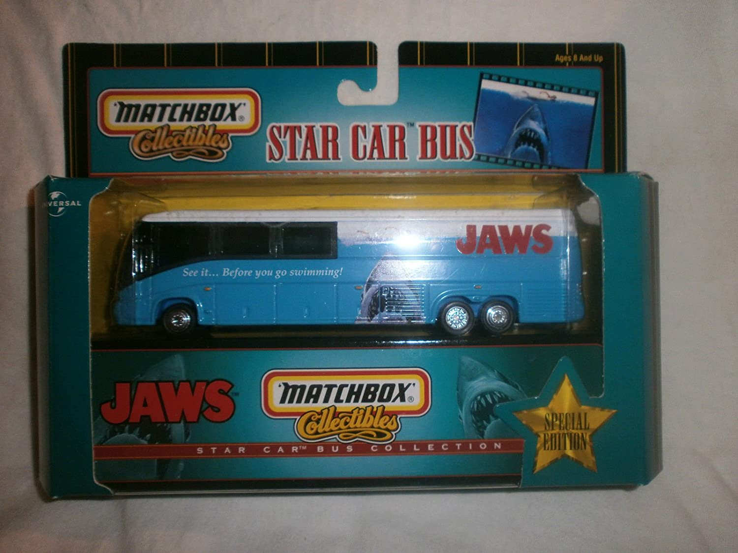 Amazon.com: Matchbox Collectibles Star Car Bus JAWS Special Edition ...