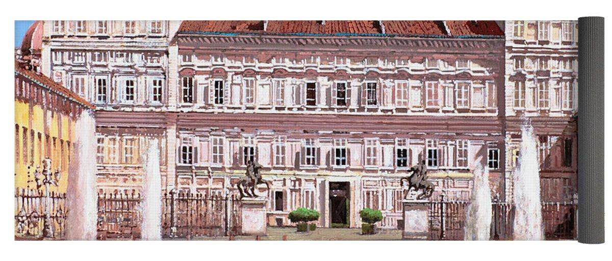 Pixels Yoga Mat w/ Bag ''piazza Castello''