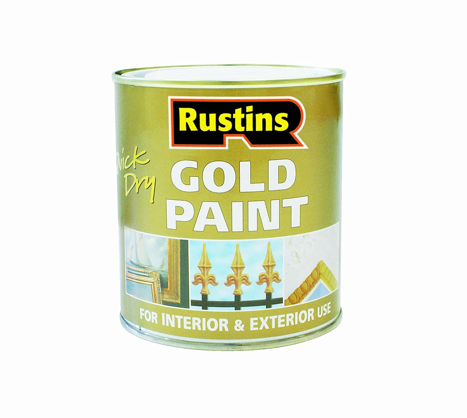 Rustins GOLE250 250ml Quick Dry Gold Paint