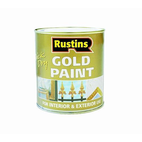 Rustins Peinture à séchage rapide pour bois et métal Doré 250ML