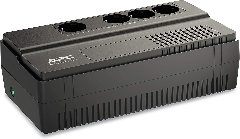 APC BV1000I-GR Easy-UPS BV - Sistema de alimentación ininterrumpida (SAI), 1000VA, AVR, 4 salidas Schuko