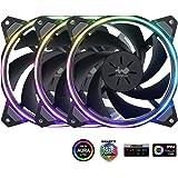 IN-WIN InWin Sirius Loop Direccionable RGB Triple Fan Kit 120mm de Alto Rendimiento refrigeración de la Carcasa del…