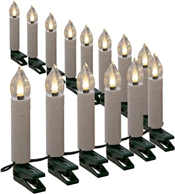 Weihnachtsbeleuchtung Innen Kerzen.Lichterkette Mit 30 Kerzen Led Warmweiß 12 M Kerzenlichterkette Innen Außen