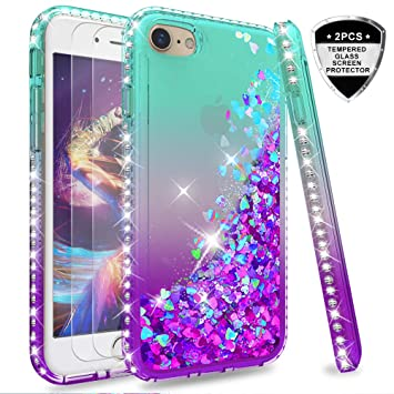 coque iphone 8 paillette violet