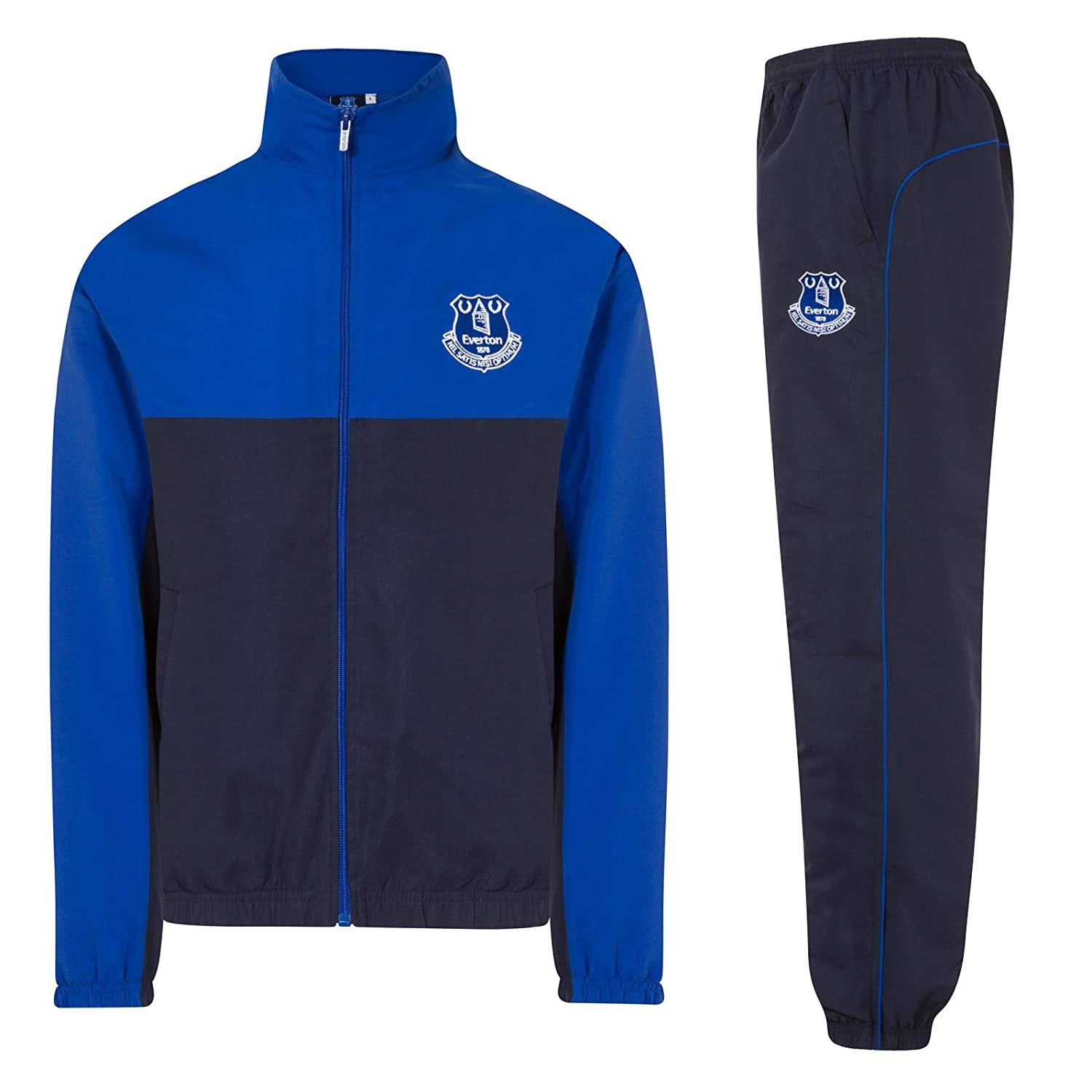 75c8fd2ff84 Everton FC Official Football Gift Mens Jacket & Pants Tracksuit Set:  Amazon.co.uk: Clothing