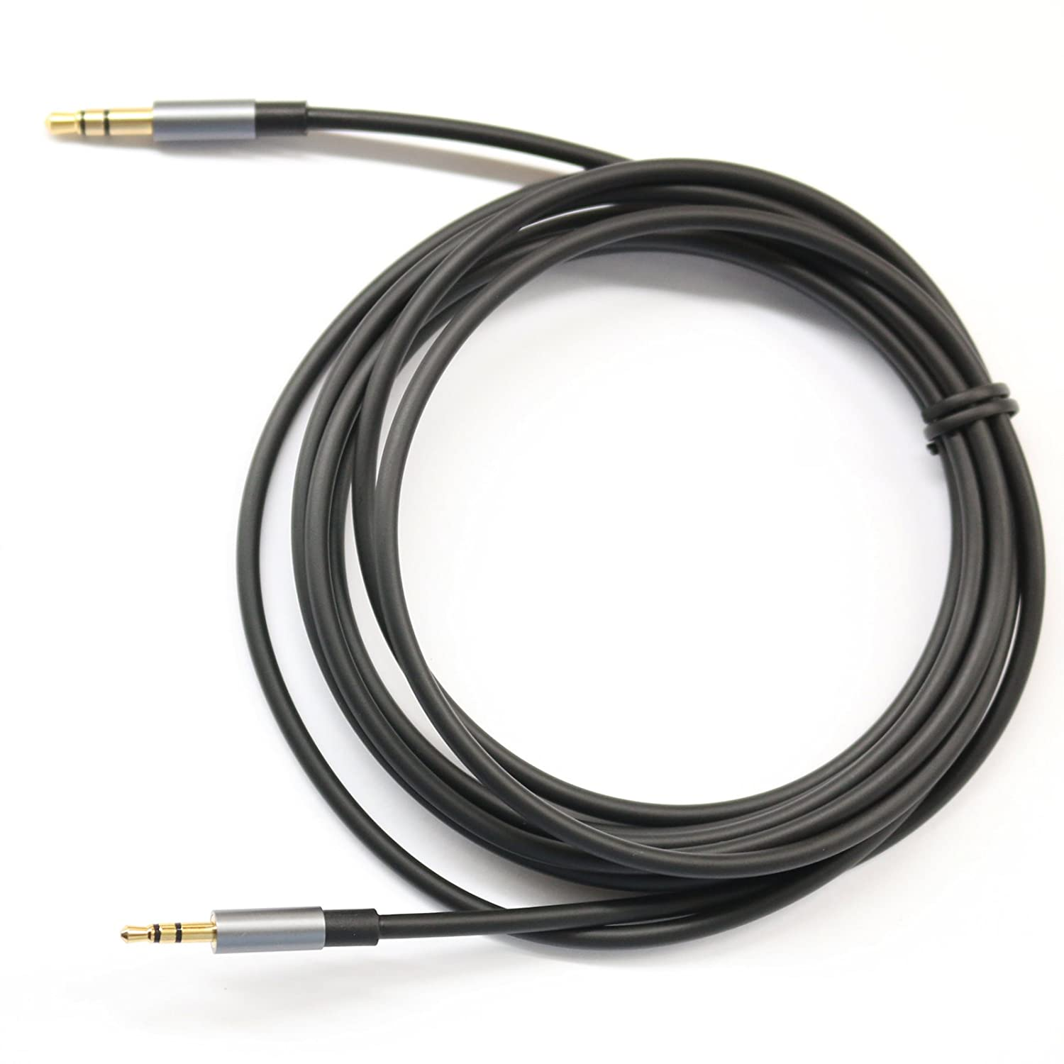 KetDirect Black 3ft Gold Plated Design 3.5mm Male to 2.5mm Male Car Auxiliary Audio cable Cord headphone connect cable for Apple, Android Smartphone, Tablet and MP3 Player LYSB0186L3PJC-ELECTRNCS