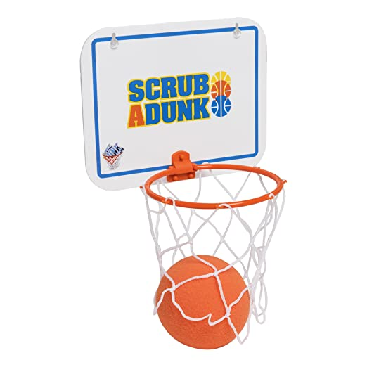 The Bathtub Basketball Hoop For Baby Ballers Harlem Globetrotters Scrub-a-dunk Baby Bathing Accessories