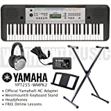 Yamaha YPT-255 Keyboard including official adapter, Westmount® Keyboard Stand, Headphones and Free Online Lessons