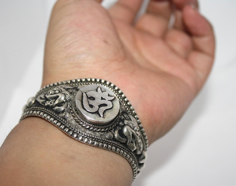 Om Bracelet Boho Bracelet Tibetan Bracelet Cuff Bracelet Gypsy Bracelet