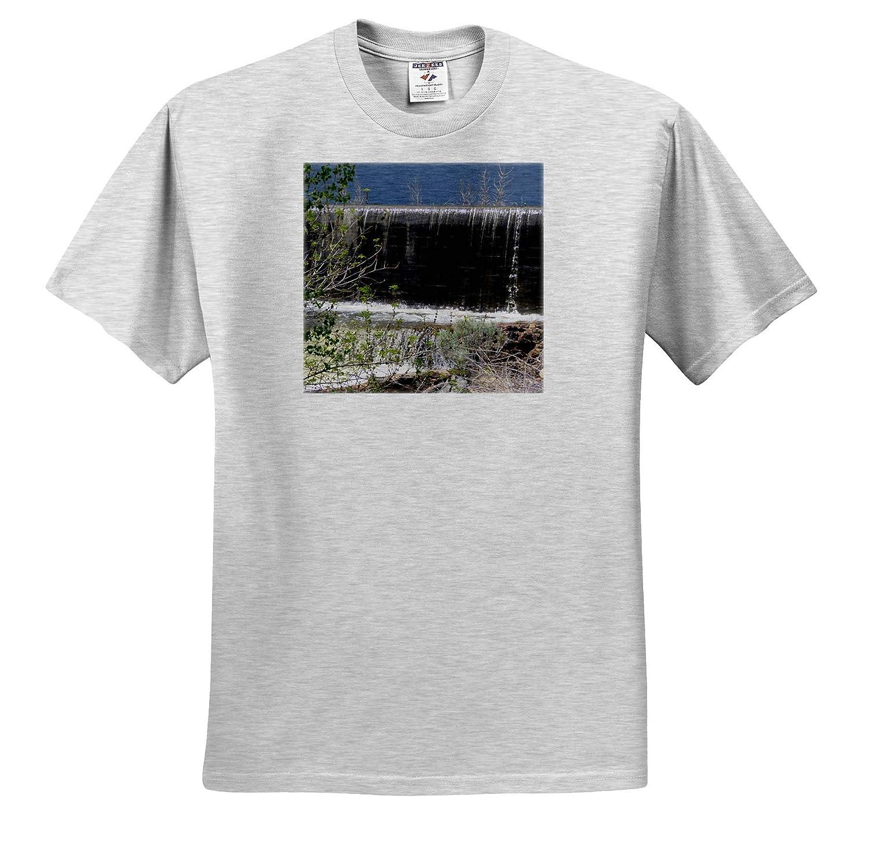 ts/_320045 The Water Going Over The Dam at Baker Adult T-Shirt XL 3dRose Jos Fauxtographee- Spillway Baker Dam