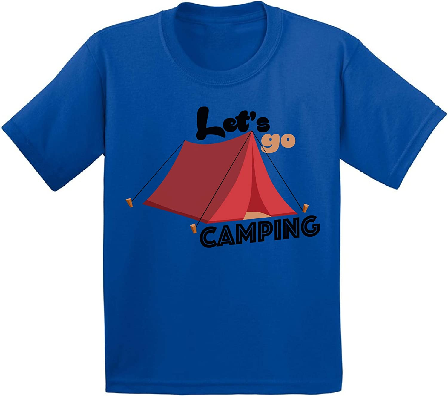 Awkward Styles Let's Go Camping Toddler Shirt Nature Lover Cute Camp Shirts for Boy Girl
