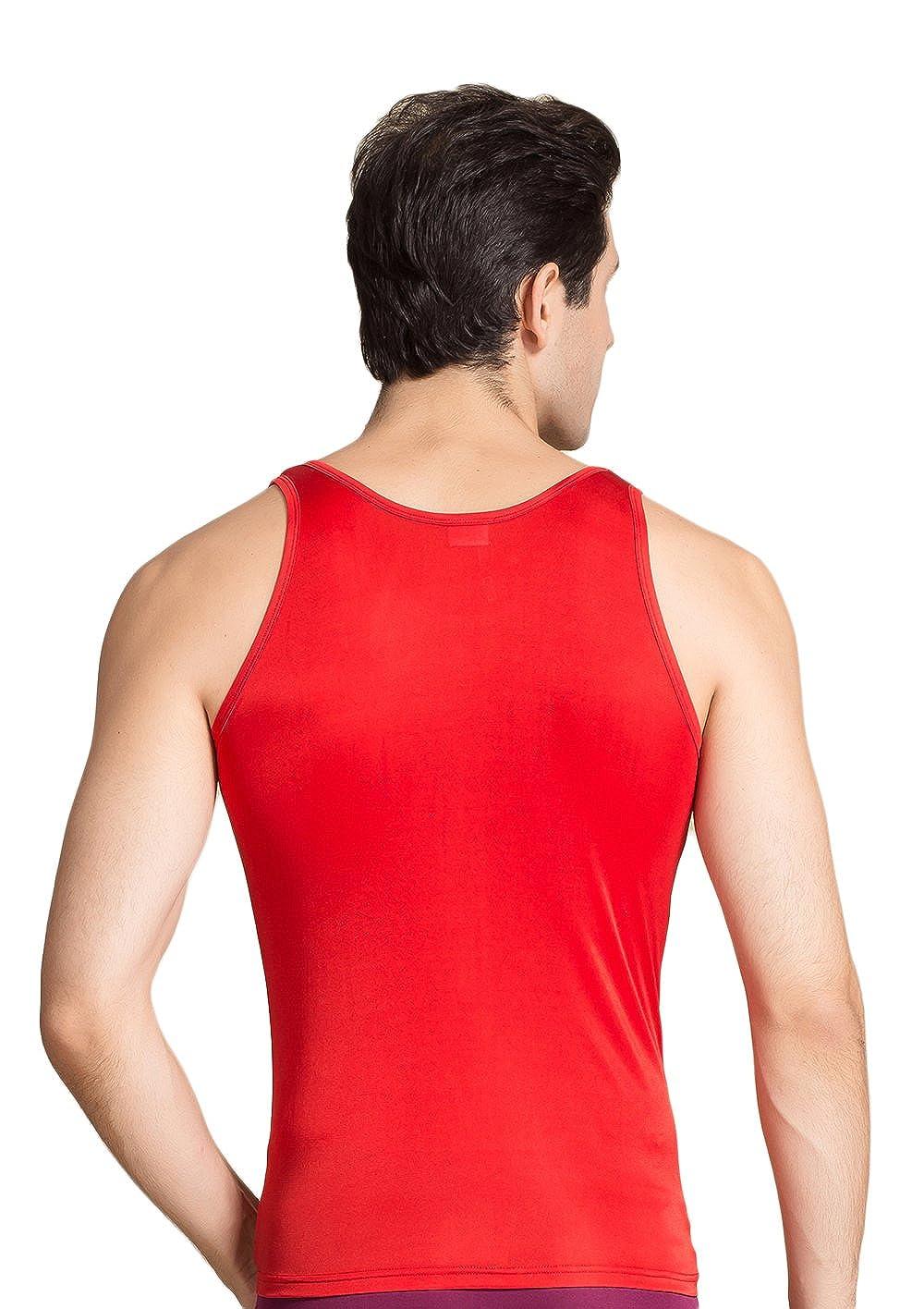499e7613d6e9ba CLC Men s Mulberry Silk Camisole Sleeveless Shirt Tank Tops Knit Fabric at  Amazon Men s Clothing store