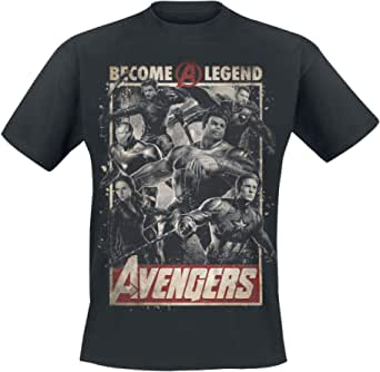 Avengers Endgame - Become A Legend Hombre Camiseta Negro, Regular