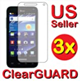 3x Premium Clear LCD Screen Protector Cover Guard Shield Protective Film Kit (3 Pieces) For Samsung©Captivate Glide Gidim SGH-i927