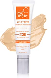 product image for Suntegrity Tinted 5 in 1 Mineral Sunscreen for Face (SPF 30 - 2 oz) - Light | Natural BB Cream Moisturizer with Physical UVA/UVB Broad Spectrum Protection | Safe for Sensitive Skin