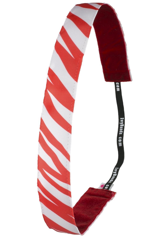 Ivybands®   Das Anti-Rutsch Haarband   Rot Weiss Gestreift   One Size   IVY655