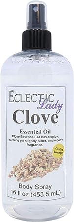 Clove Essential Oil Body Spray Double Strength , 16 ounces