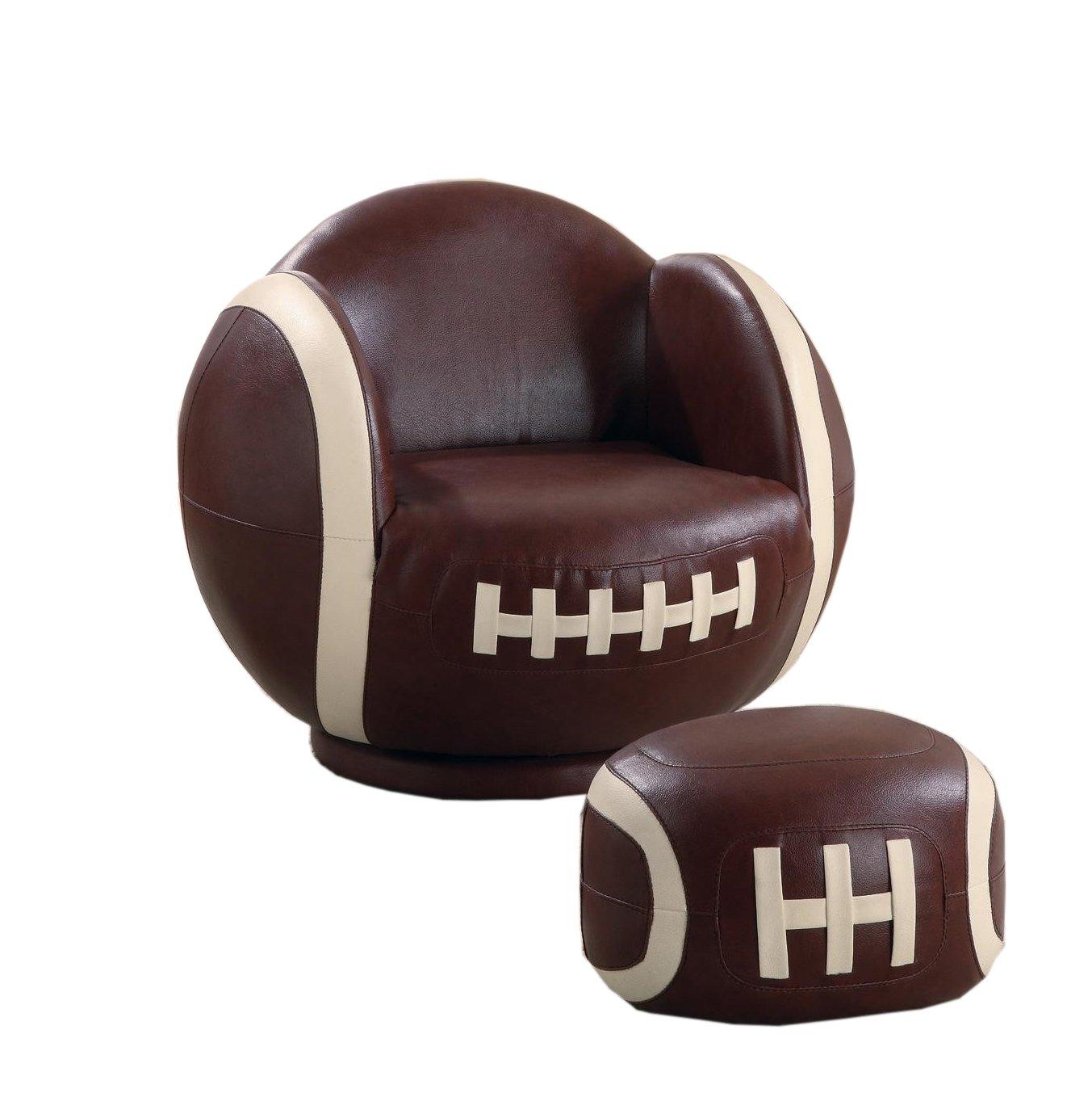 Coaster Home Furnishings Casual Chair, White and Brown by Coaster Home Furnishings