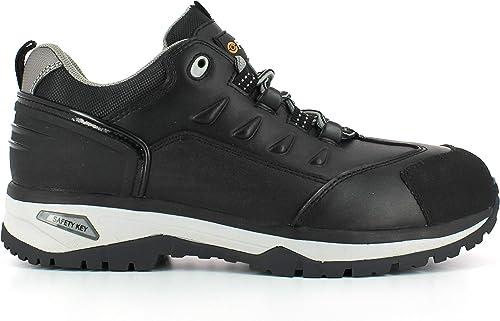 Foxter Chaussures de sécurité | Hommes | Basses | Baskets de Travail | Légères et Respirantes | SafetyKey : Grand Confort | Imperméable | Cuir Noir