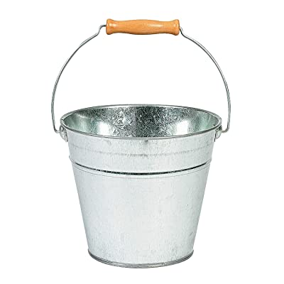 Do It Yourself Large Silver Tin Pail - Crafts for Kids and Fun Home Activities: Toys & Games