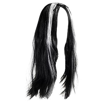 Larga mujer gótica Morticia peluca