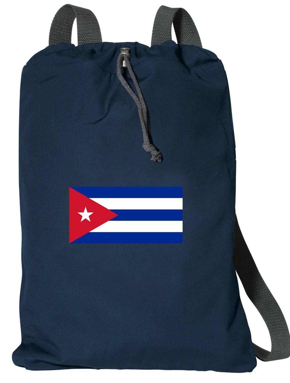 Cuba Drawstring Backpack RICH COTTON Cuban Flag Cinch Bag