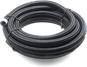"""2RZ 6AN 10Ft(3M) Universal Braided Oil Fuel Line Hose Stainless Steel Nylon for 3/8"""" Tube Size"""