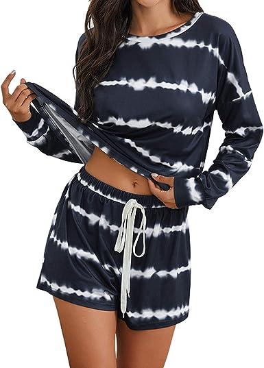 Conjunto de Pijama Acogedor de 2 Piezas para Mujer ...