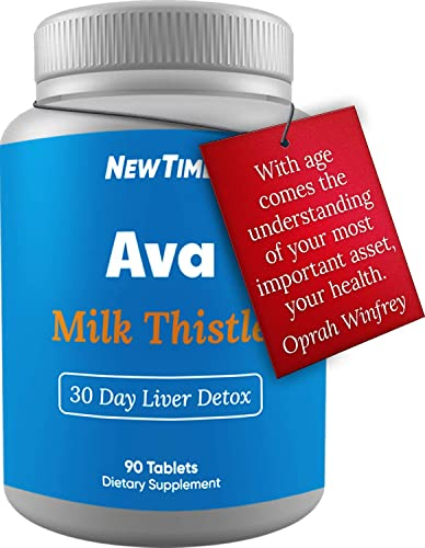AVA – Legendairy Milk Thistle Liver Cleanse Support Supplement – 450mg Silymarin – Healthy Liver for Men and Women Natural Detox Cleanse – Vegan