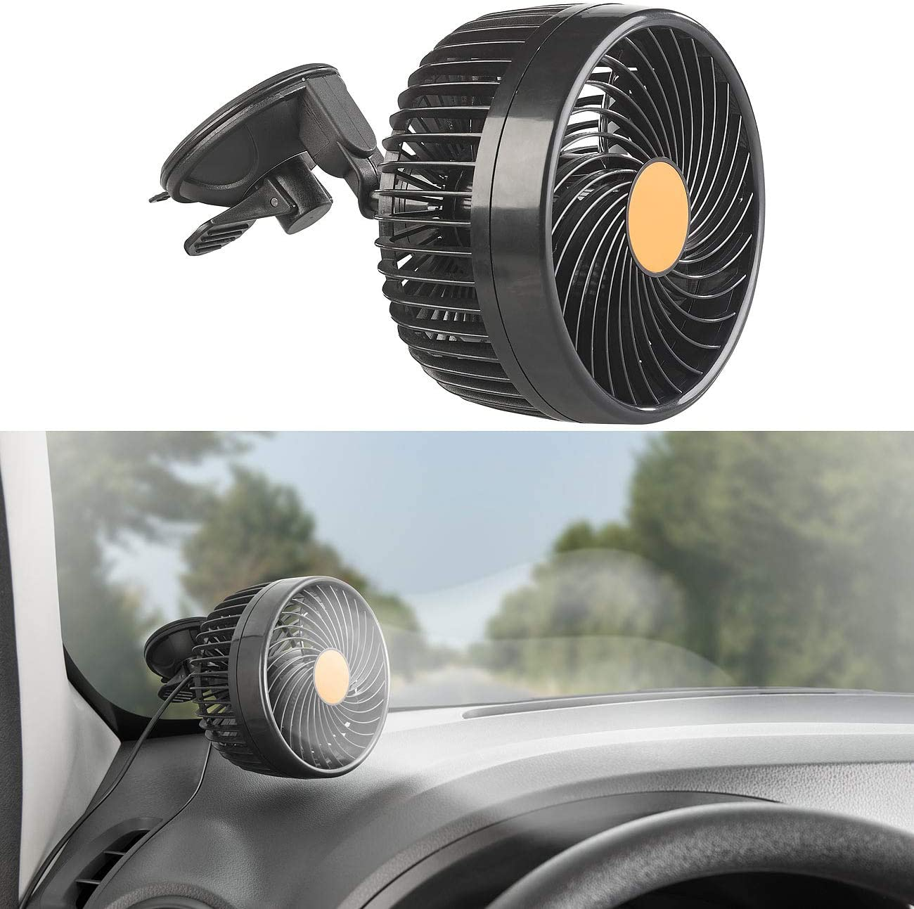 Lescars Ventilator 24 Volt: LKW- /& Kfz-Ventilator f LKW-Ventilator 24V stufenlose Geschwindigkeit 24-V-Anschl 12W