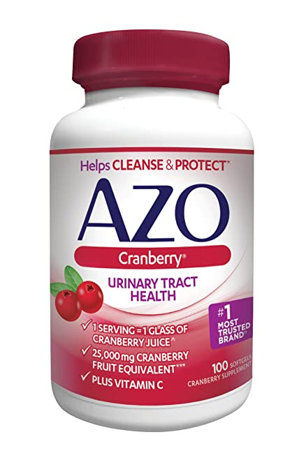 AZO Cranberry Urinary Tract Health, 25,000mg equivalent of cranberry fruit, Softgels 100 count